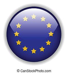 europe, drapeau, vecteur, bouton