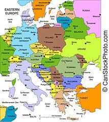 europe, editable, pays, noms, oriental