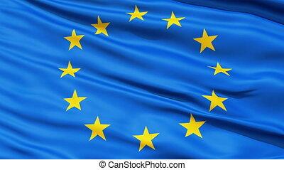 europe, réaliste, drapeau, vent