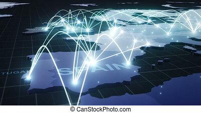 europe, text), réseau, global, connexions, par, londres, (with