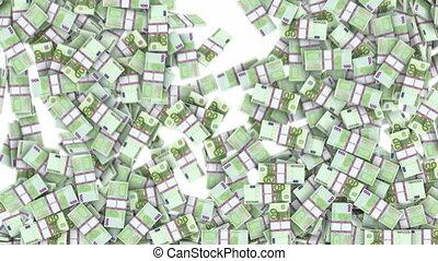 euros, cadre, remplissage, 100