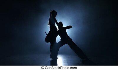 exécuté, latinamerican, danse, gracieux, enfumé, émotif, champions, studio