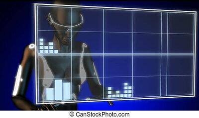 examen, hologramme, rayon x