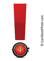 exclamation, illustration, montre