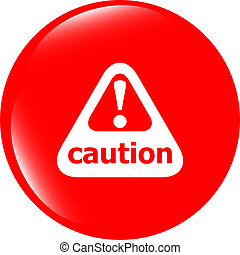 exclamation, site web, attention, mark., moderne, symbole., signe danger, avertissement, prudence, ui, icon., bouton