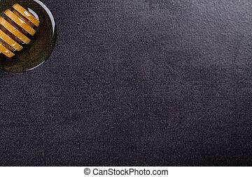 exclusivité, pierre, arrière-plan noir, o