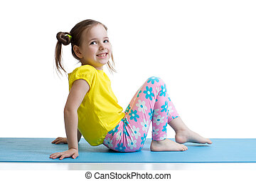 exercices, enfant, fitness