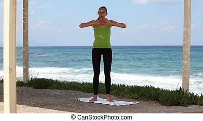 exercices, yoga