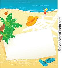exotique, été, bannière