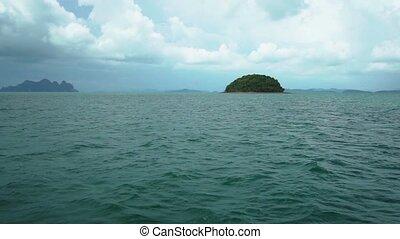 exotique, îles, voyage, bateau