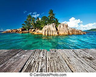 exotique, beau, île