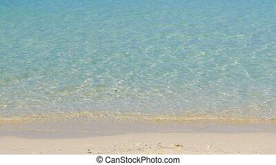 exotique, espace libre cristal, eaux, mer