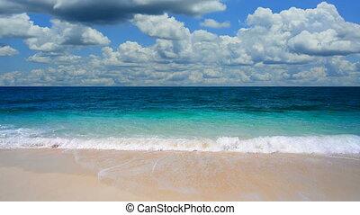 exotique, inclinaison, plage, haut, paisible