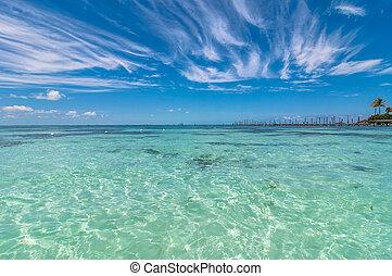 exotique, isla, mexique, mer, mujeres