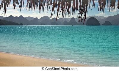 exotique, montagnes, plage