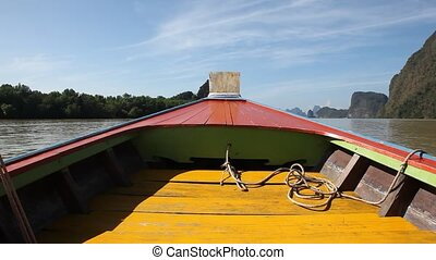 exotique, phuket, voyage, bateau, îles