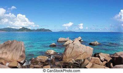 exotique, seychelles, plage