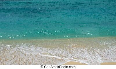 exotique, sommet, plage, vue
