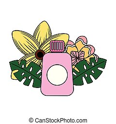 exotique, sunblock, fleur, été