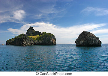 exotique, thaïlande, îles