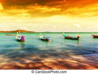exotique, thaïlande, plage, paysage, exotique