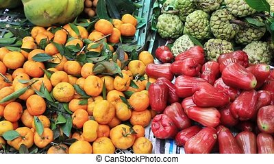 exotique, vente, fruits