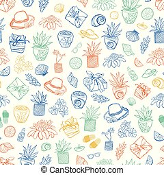 exotique, wallpaper., reprise, cadeau, pattern., textile, recours, vecteur, spa, blanc, suitable, plage, emballer
