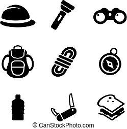 expédition, icônes