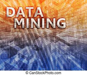 exploitation minière, données, illustration