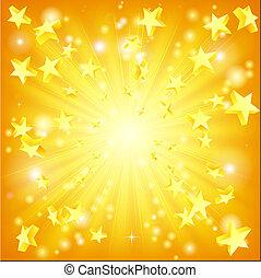 exploser, étoiles, fond