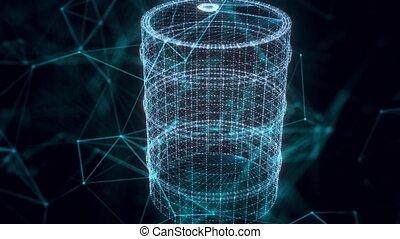 explosif, fin, hologramme, haut, baril