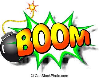 explosion, boom