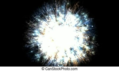 explosion, groupe, galaxie