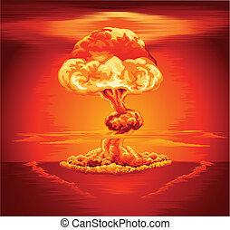 explosion nucléaire, nuage champignon