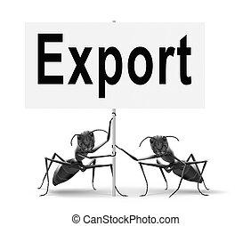 exportation, commerce international
