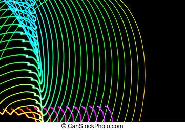 exposition, résumé, lumière colorée, long, noir, painting., futuriste, background-28