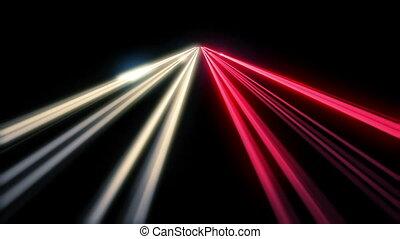 exposition, trafic, long, autoroute, nuit
