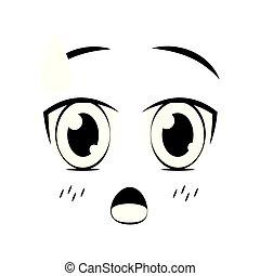 expression, dessin animé, figure