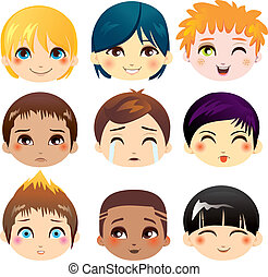 expression, facial, collection