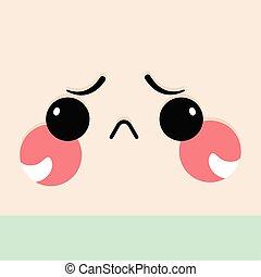 expression, facial, triste