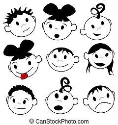 expressions, enfants