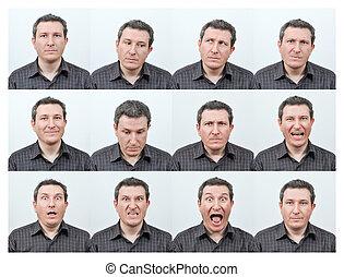 expressions, facial