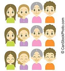expressions, gosses, parents, deux