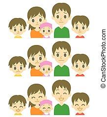 expressions, gosses, parents, trois