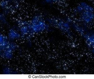extérieur, étoiles, espace