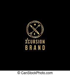 extérieur, extrême, emblem., logo., sport, vacances, vecteur