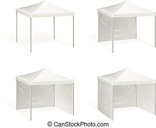 extérieur, haut, pop, événement, vecteur, canopy., tente