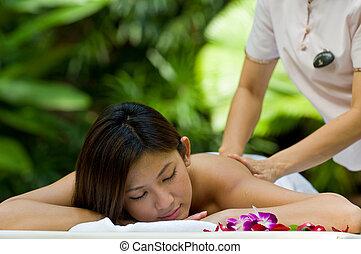 extérieur, masage