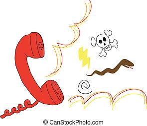 fâché, appeler