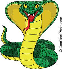 fâché, cobra, serpent